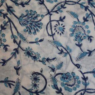 Cobalt Twirl Long Jaipur Dressing Gown