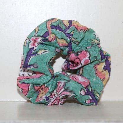 Green Multi Garden Hair Scrunchie