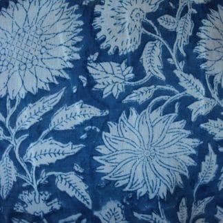 Indigo Garden Short  Jaipur Dressing Gown
