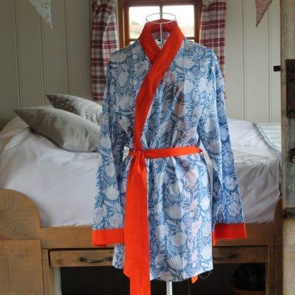 Indigo Wilderness Short  Jaipur Dressing Gown