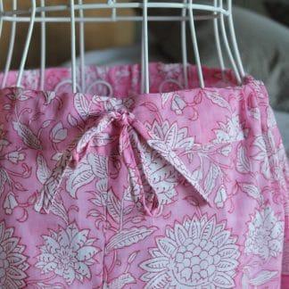 Pink Garden Olivia Long Wide Leg Pyjamas