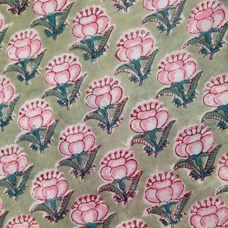 Pink Lotus Long Jaipur Dressing Gown