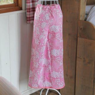 Pink Wilderness Olivia Long Wide Leg Pyjamas