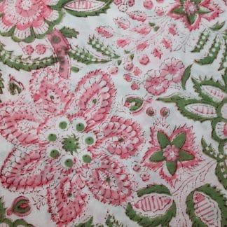 Salmon and Green Garden Honey Cami Pyjamas